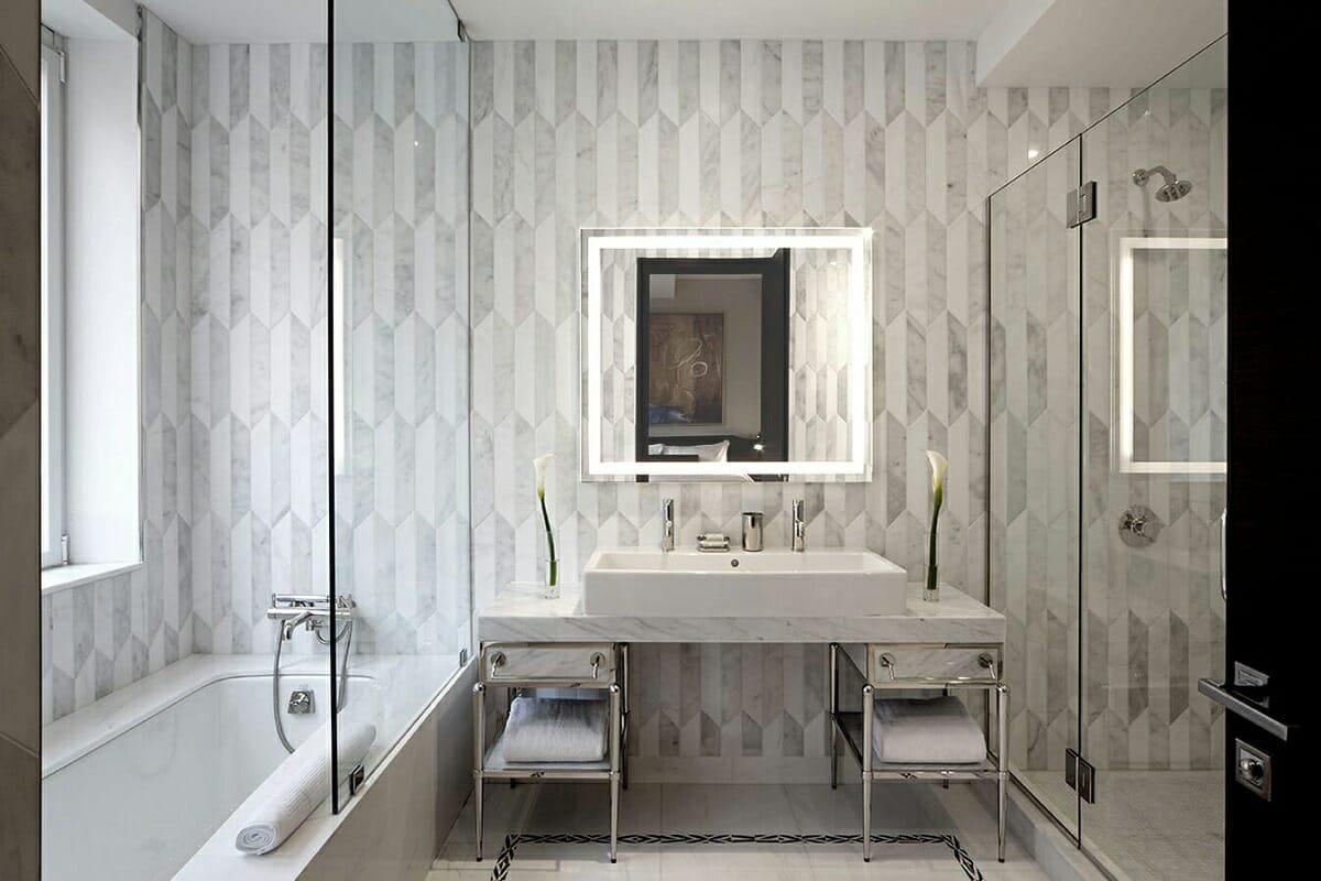 Bathroom interior decoration by Joseph Ginsberg