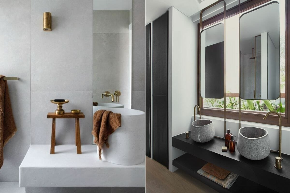 Bathroom remodel trends 2022 - freestanding basins