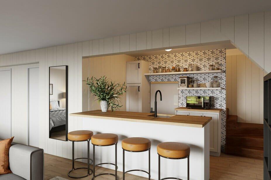 Beautiful kitchen decor for basement studio apartment