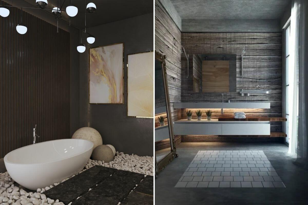 Black 2022 Bathroom color trends