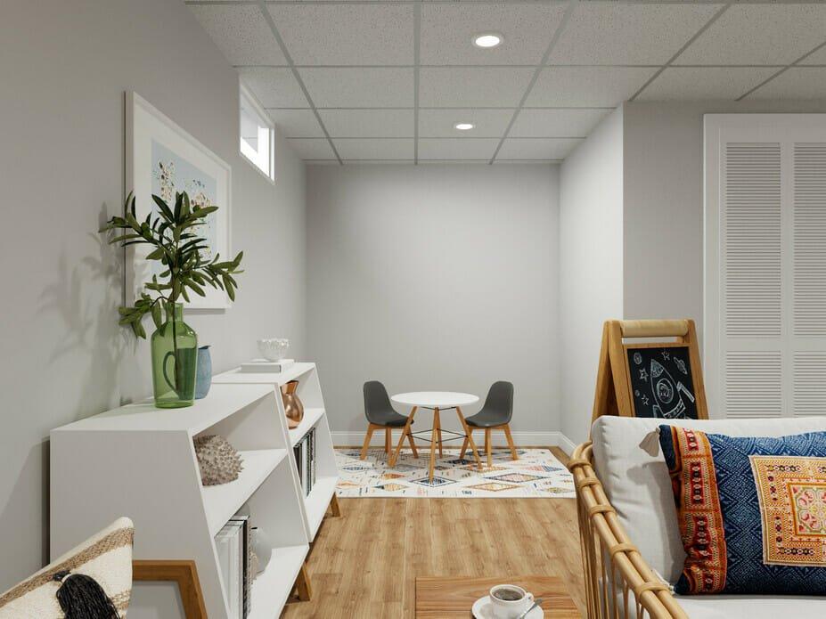 Boho interior design for a family lounge