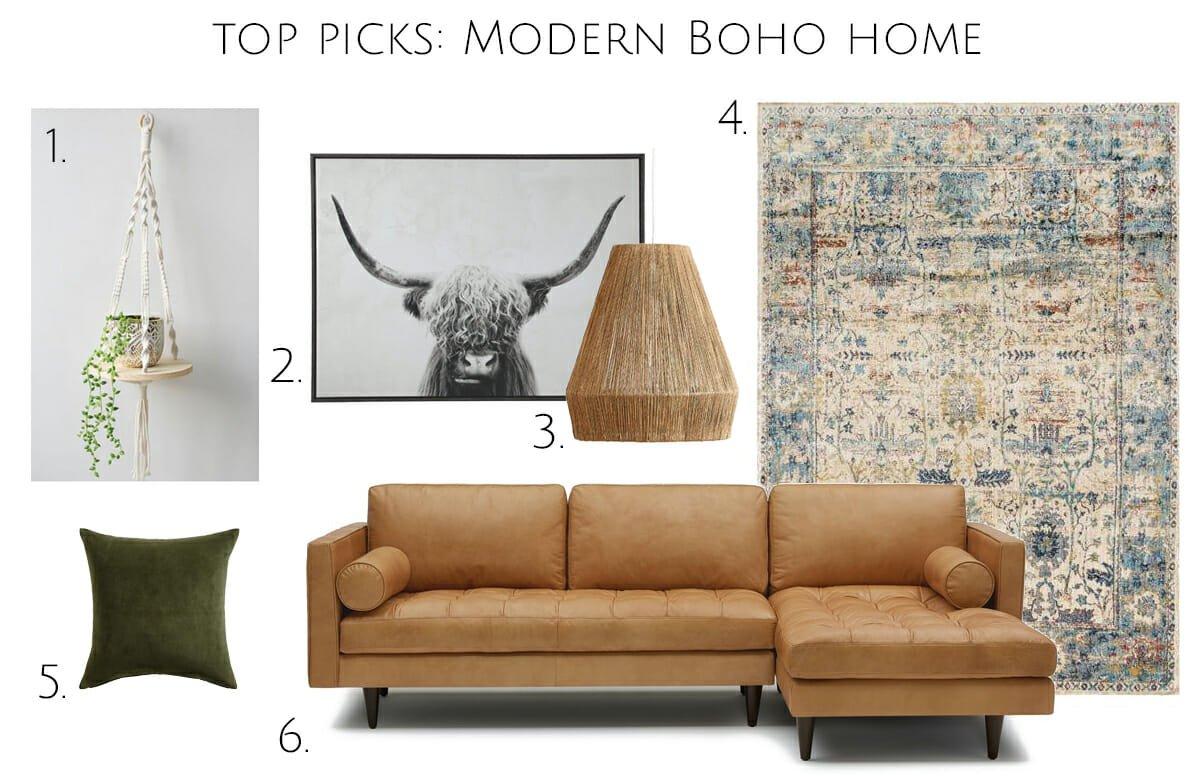 Boho interior design top picks