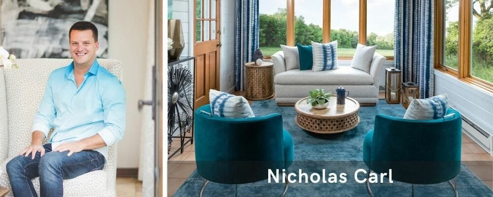 Chic living room by one of the most talented Milwaukee interior designers