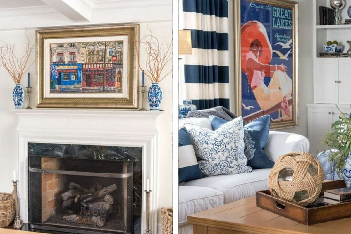 Colorful living room decor by leading interior design firms Milwaukee