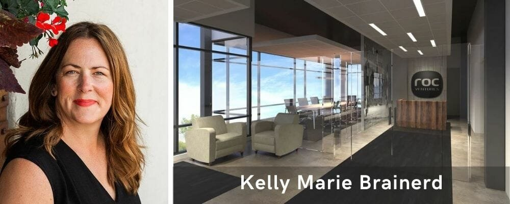 Contemporary lobby design by one of the top Milwaukee interior designers, Kelly Brainerd