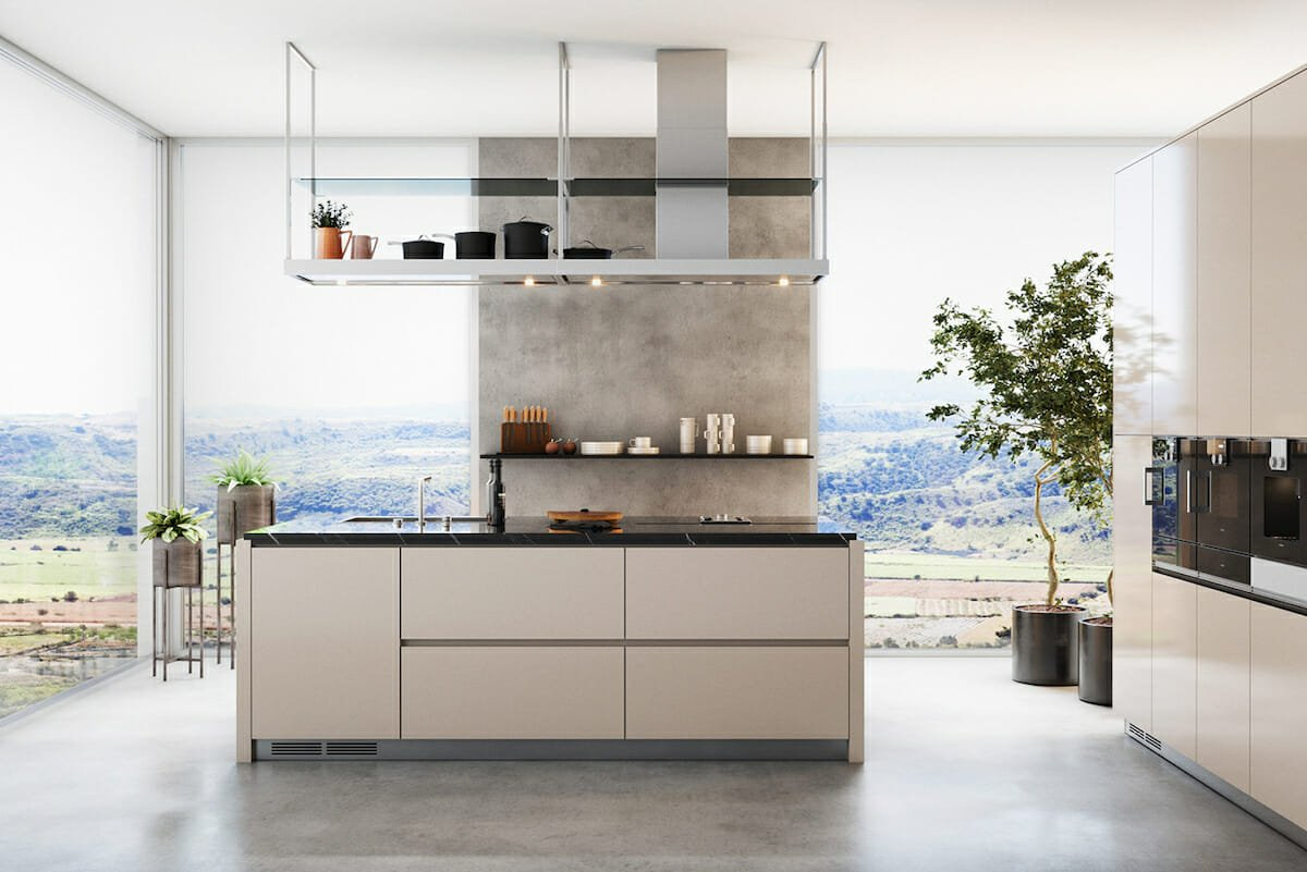 Creative shelving ideas for the kitchen by Decorilla designer, Rehan A.