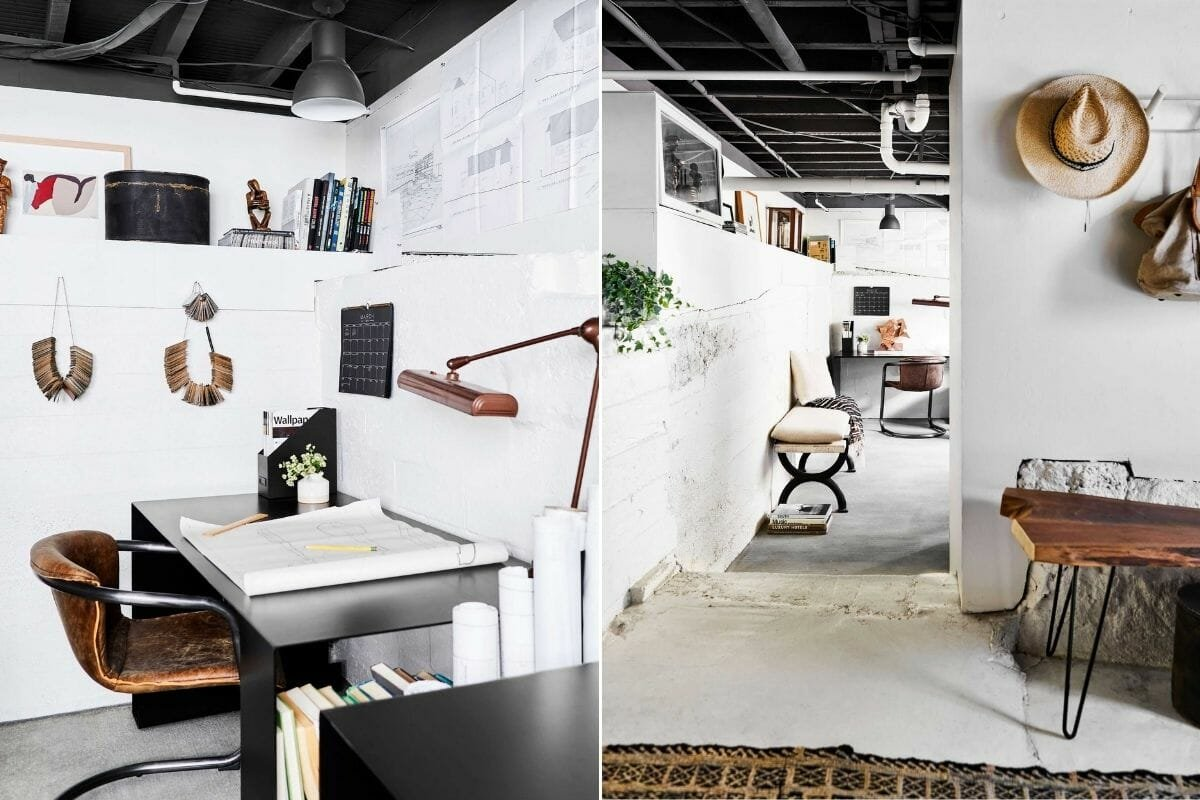Finished basement office design ideas - Emily