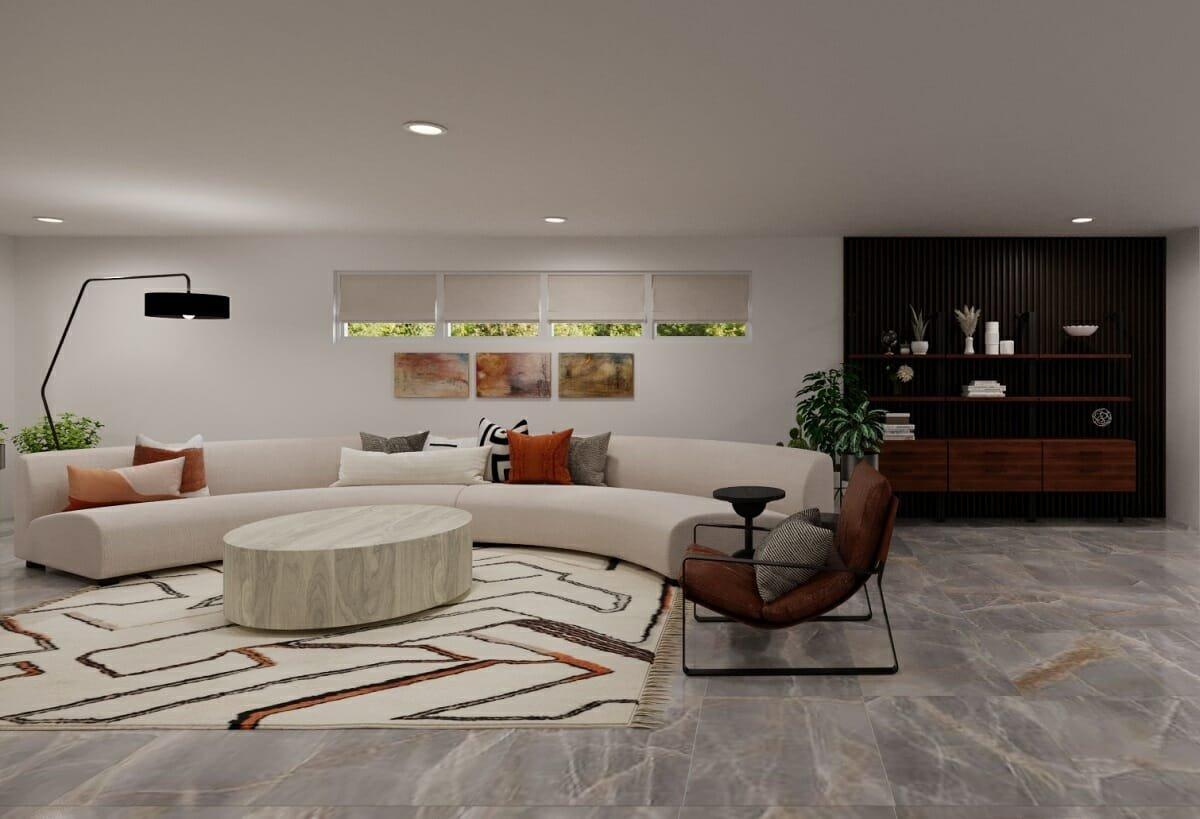 Finished basement remodel ideas - Courtney B.