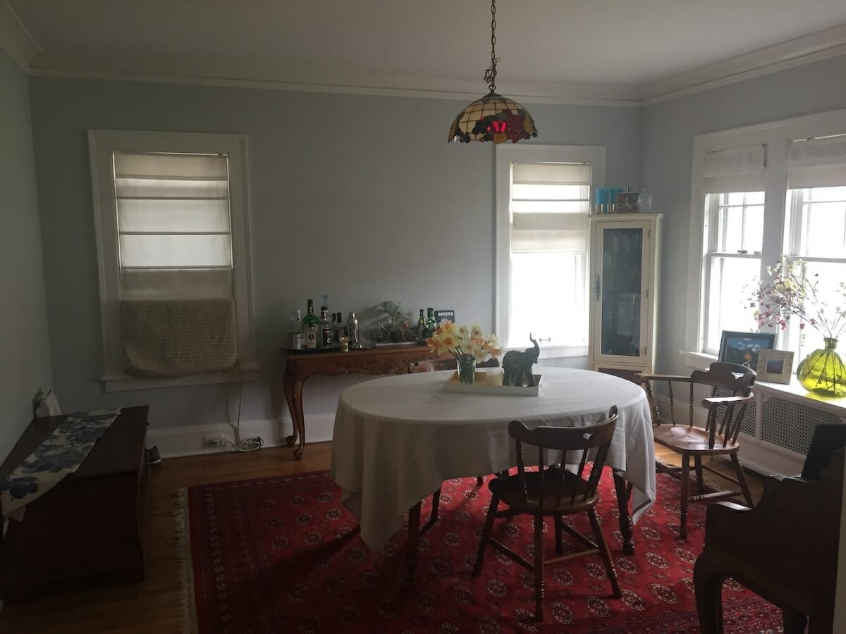 Formal dining room decor - before