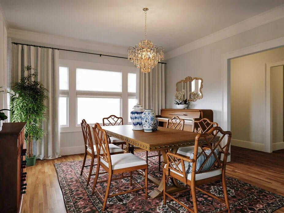 Formal dining room decor by Decorilla designer Farzaneh K