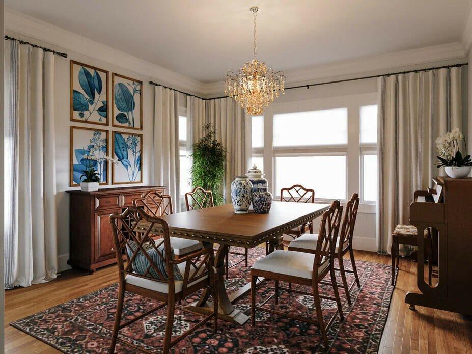 Formal dining room ideas by Decorilla designer Farzaneh K