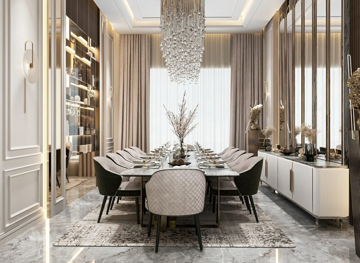 Glam dining room ideas - Behance