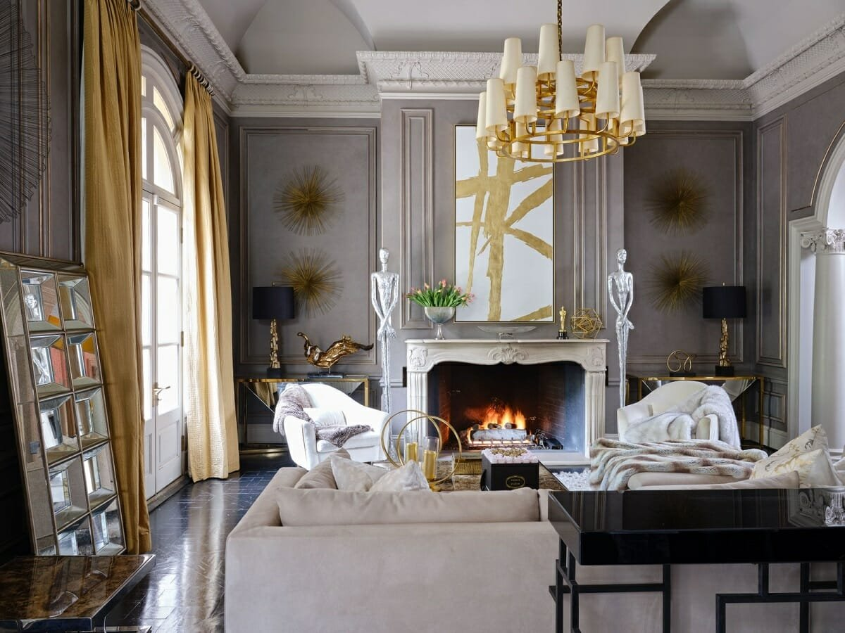 Glam style living room - AD