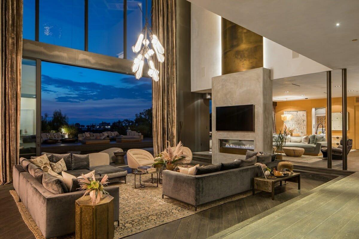 Glamorous living room ideas - AD