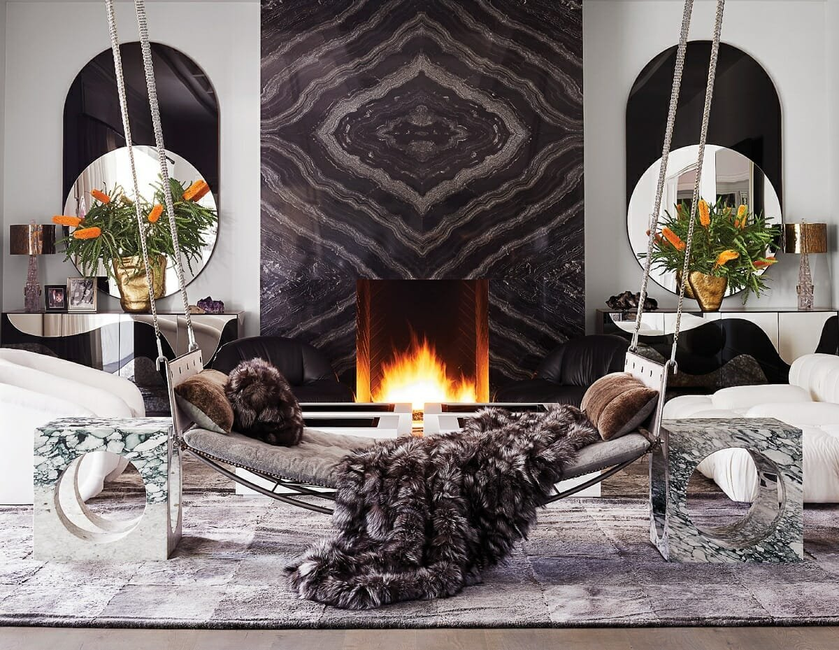 Glamorous living room ideas - Martin