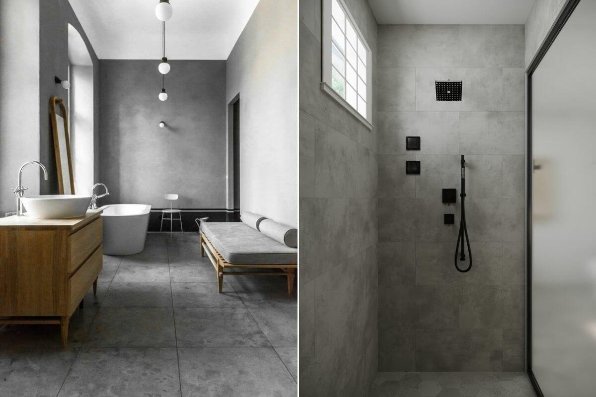 Grey masculine bathroom decor ideas
