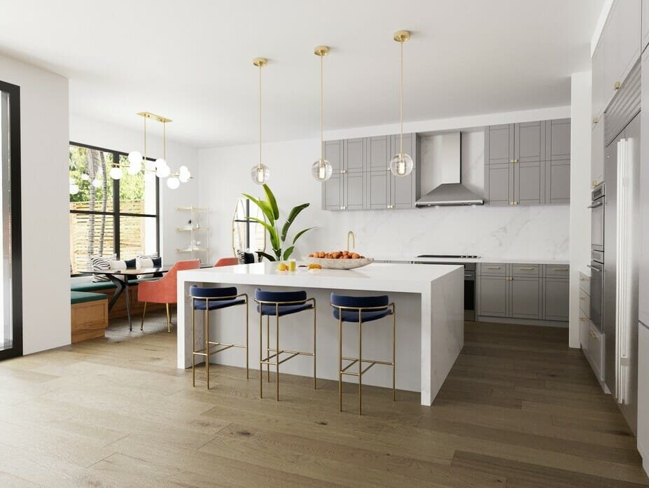 Light and classy contemporary kitchen design and decor