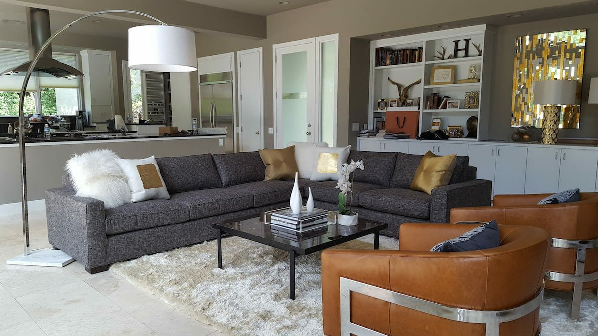 Living room by Decorilla Fort Worth interior designer Shelley Craven