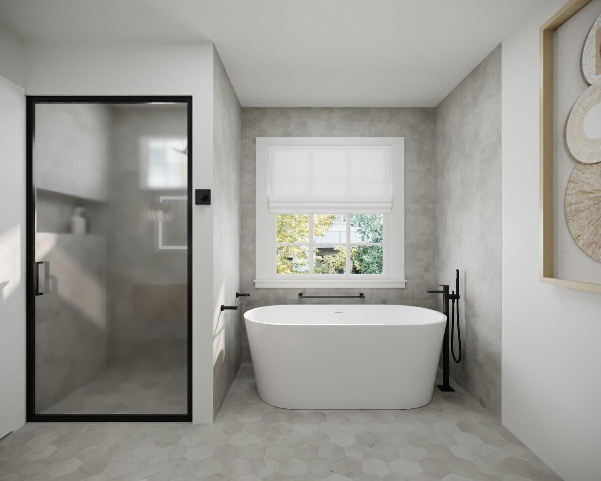 Masculine bathroom decor - Wanda P.