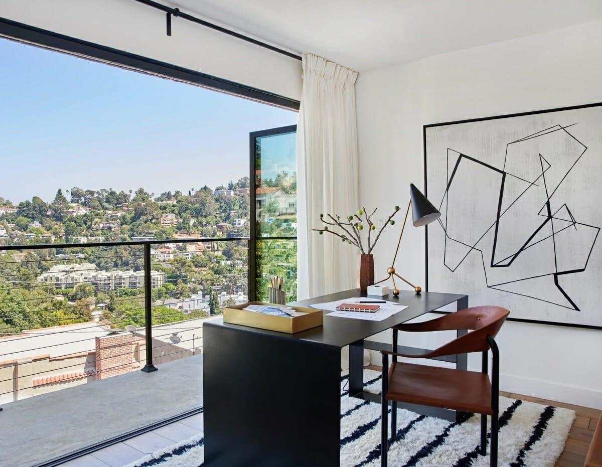 Masculine home office ideas - Bobby Berk