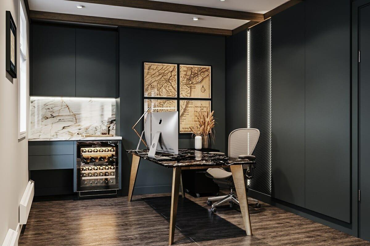 Masculine home office ideas - Mladen C.