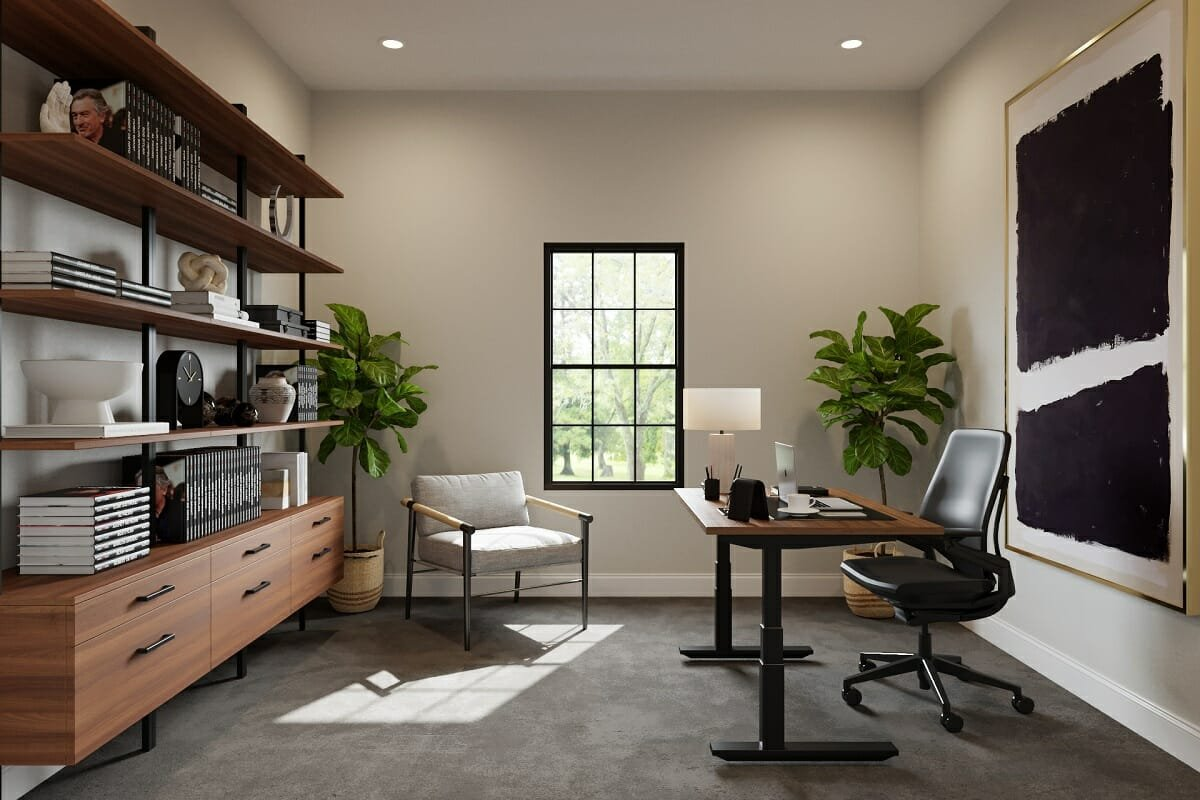 Masculine home office ideas with a boho twist - Drew F