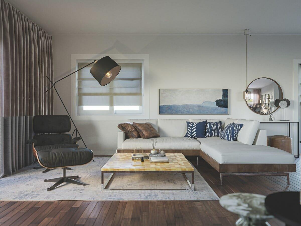 Masculine interior design with a coastal flare - Darya N