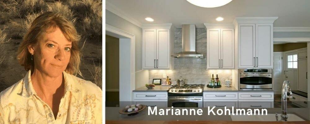 Minimal kitchen design by one of the top Milwaukee interior designers, Marianne Kohlmann