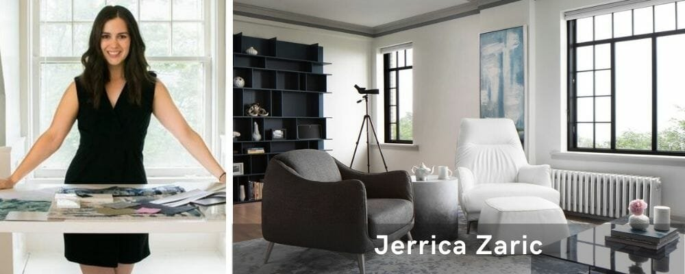 Minimal living room by one of the top Milwaukee interior designers, Jerrica Zaric
