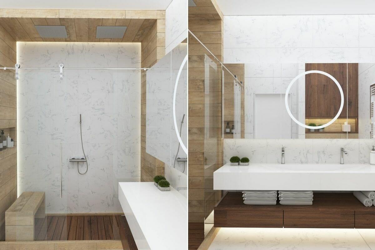 Minimal small bathroom trends 2022 -Kate S