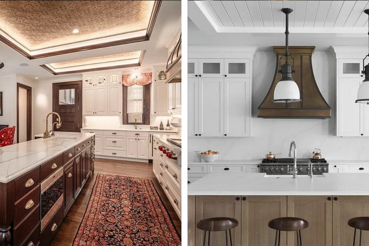 Modern and traditional kitchen decor by one of the top Milwaukee interior designers, Leslie Dohr