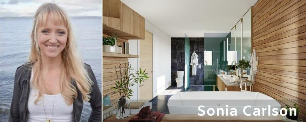 Modern bathroom interior design - Sonia Carlson