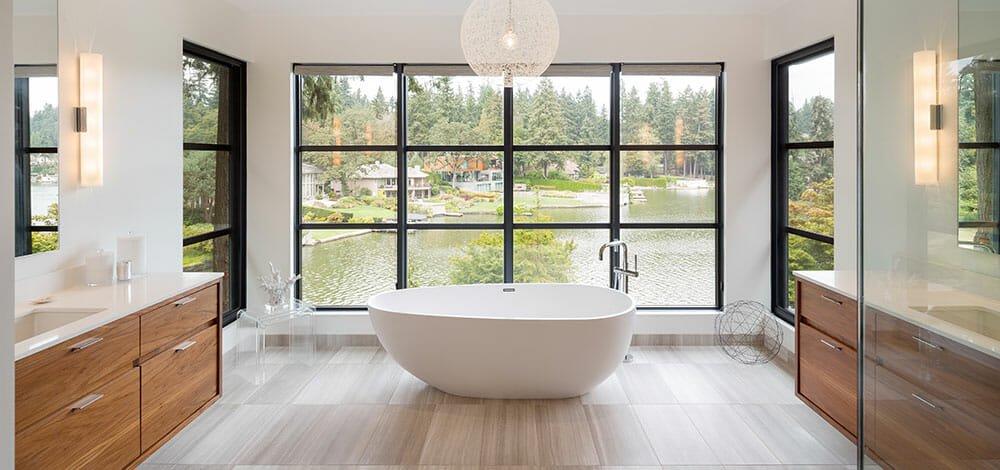 Modern bathroom interior design by Decorilla designer Linde P