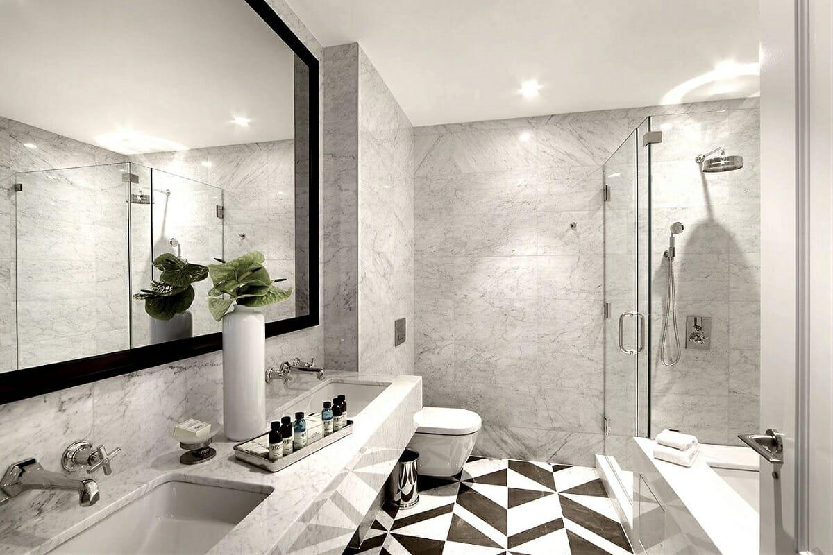 Modern bathroom interior design by Joseph Ginsberg