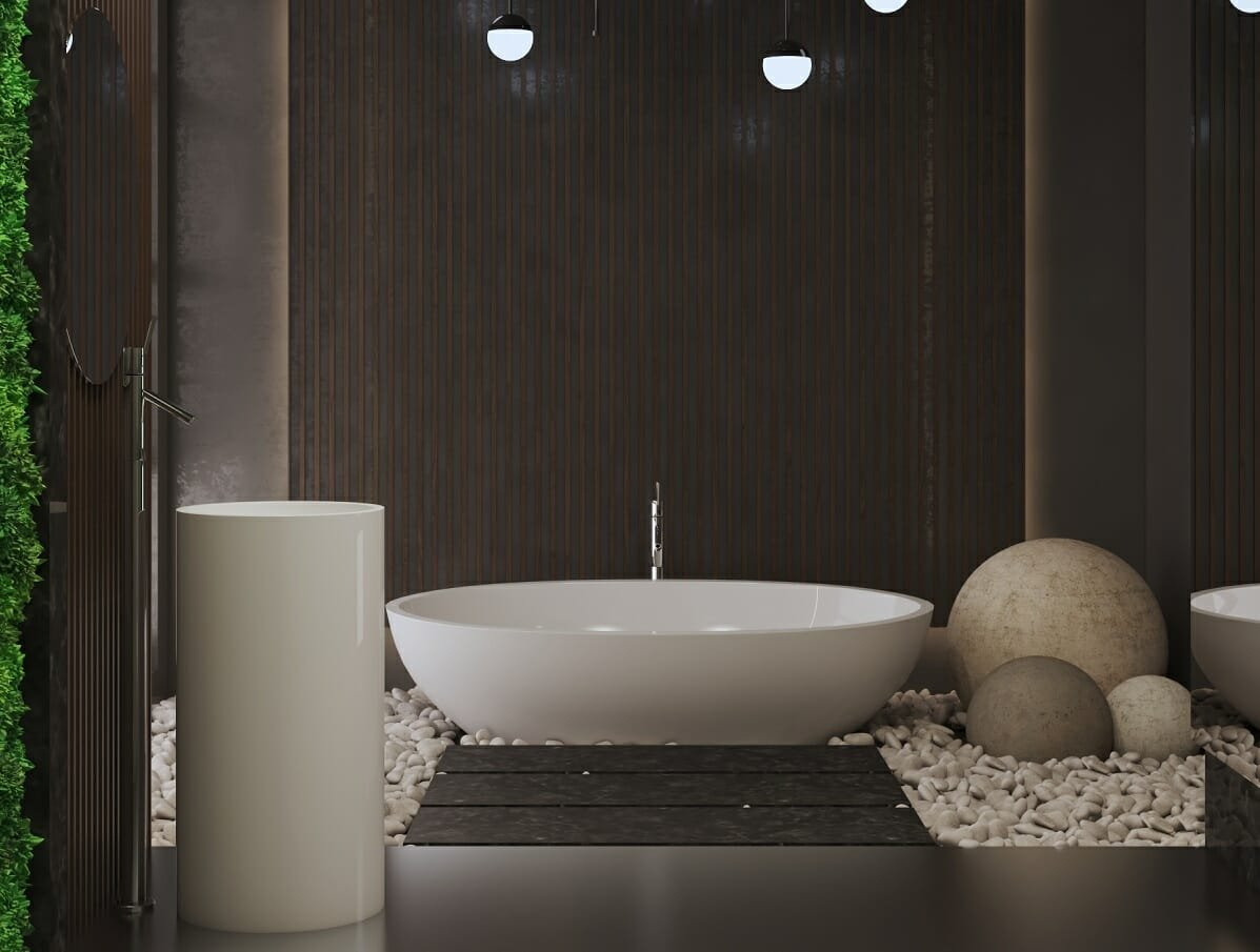 Modern bathroom interior design by Shofy D.
