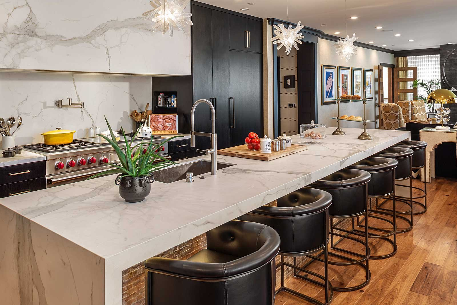 Modern kitchen by one of the top Milwaukee interior designers, Andrea Farr
