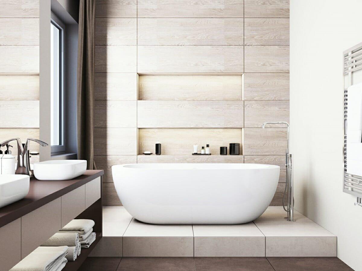 Relaxing design by bathroom interior designer Kate S