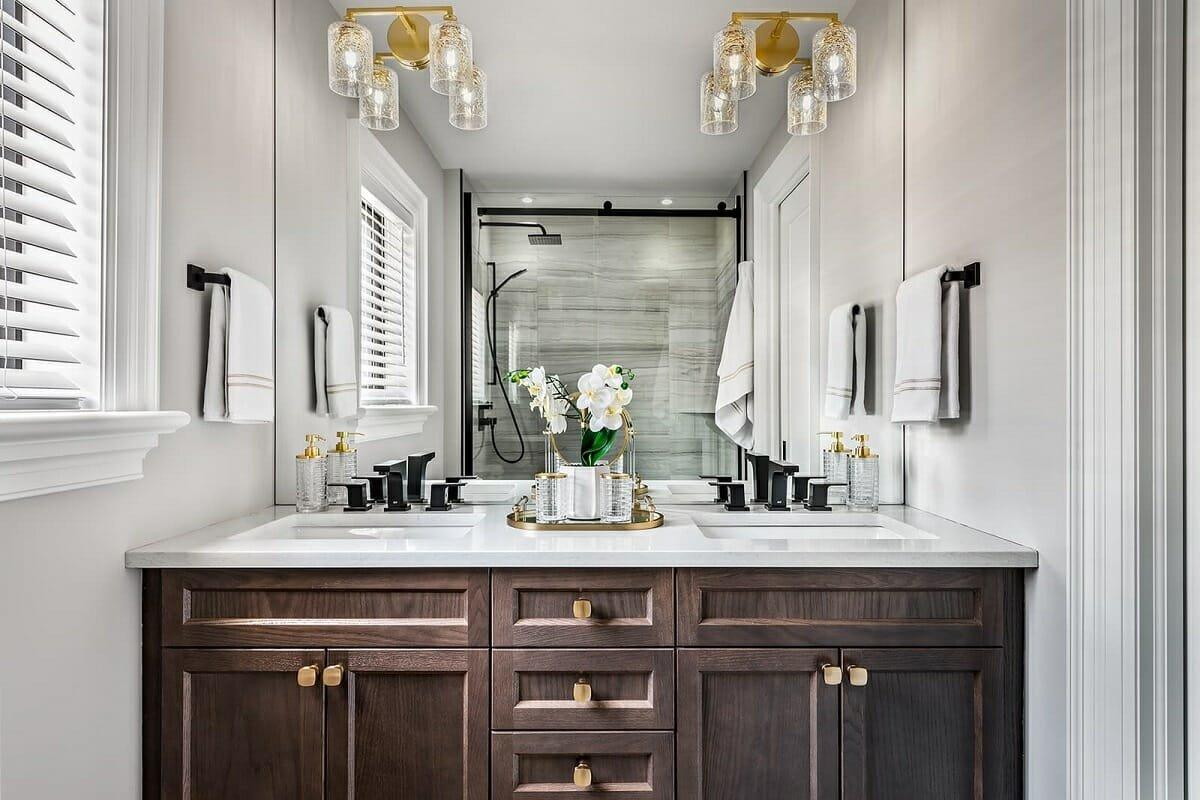 Small bathroom interior design by Jane Lockhart