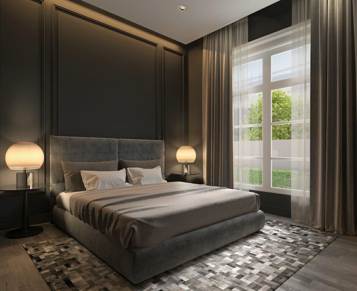 Soft Gray masculine bedroom ideas