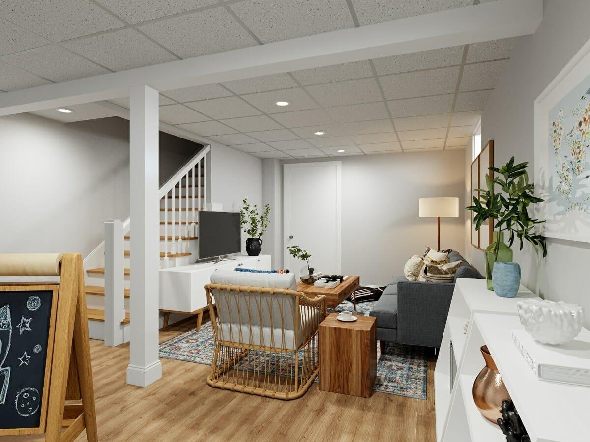basement designer for a family room - drew f