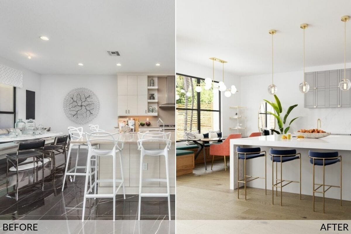 before and after the modern contemporary kitchen design