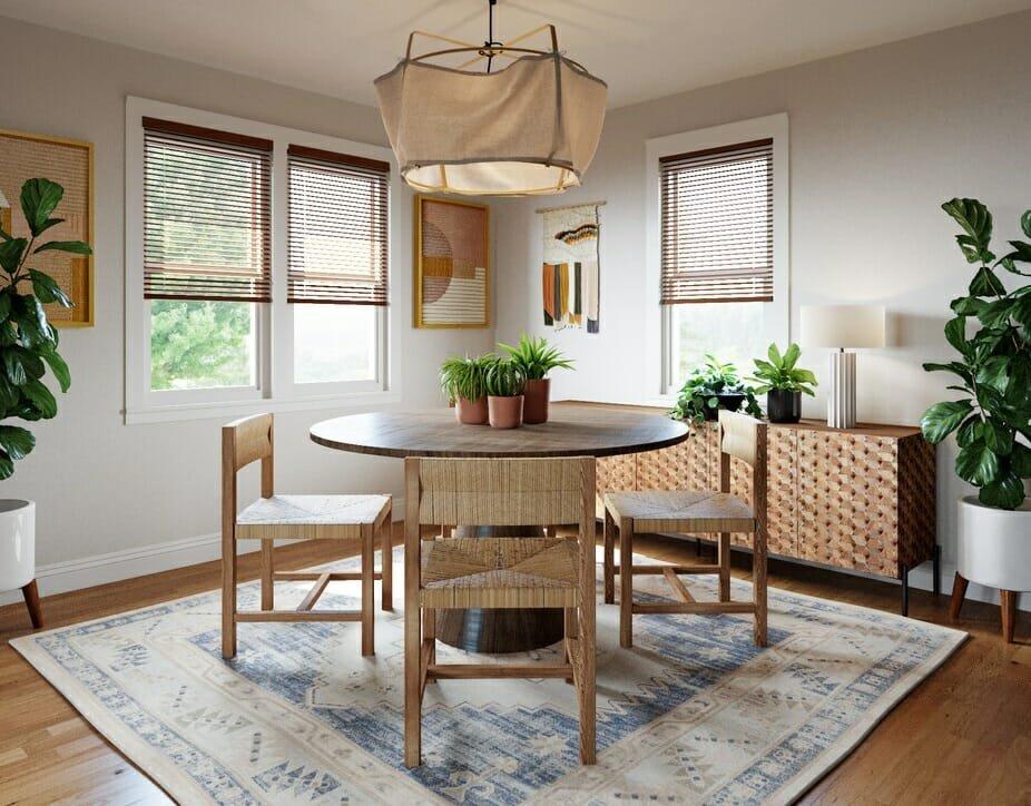 bohemian decor ideas for a dining room
