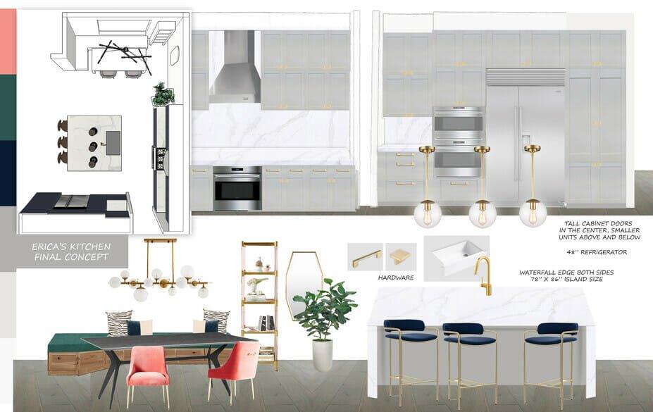 contemporary kitchen design mood board