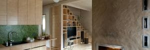 contemporary storage solutions under the stairs and floor to ceiling cabinets