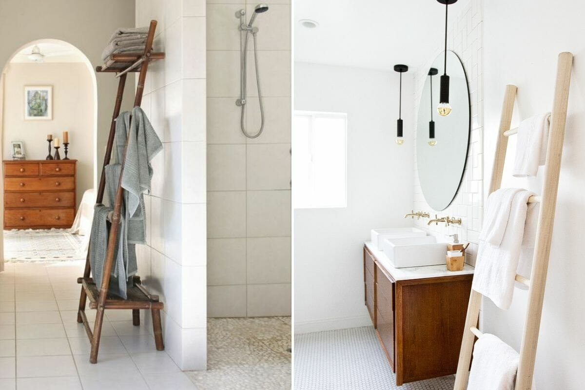 creative storage for small spaces - towel ladder