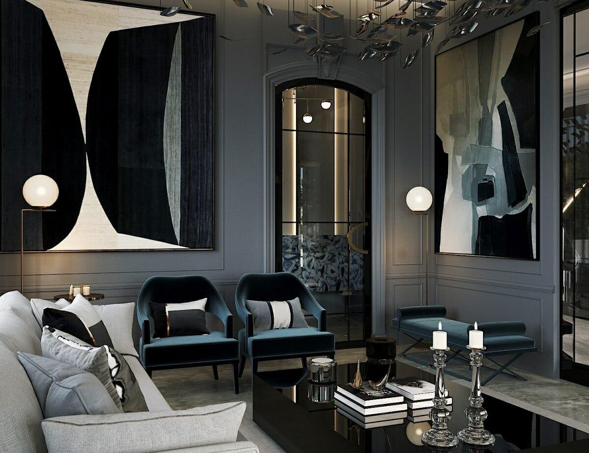 glamorous room decor - Nathalie Issa
