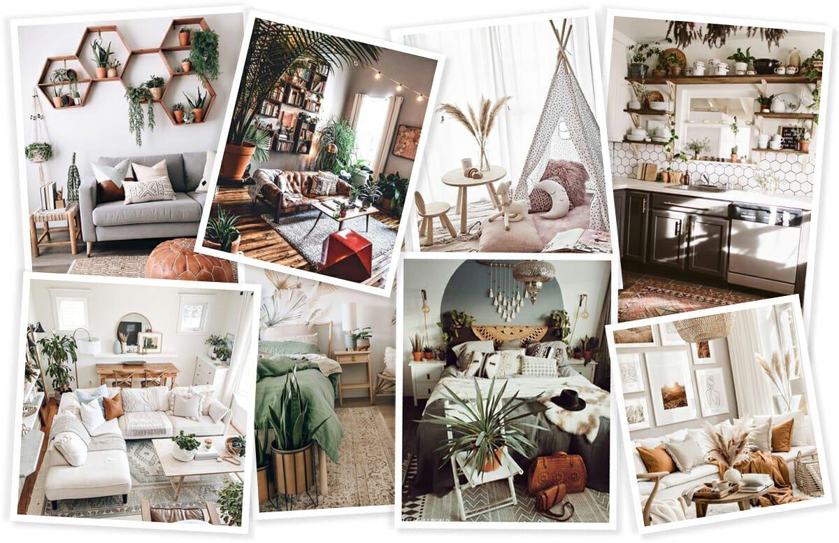 inspiration for a bohemian interior design