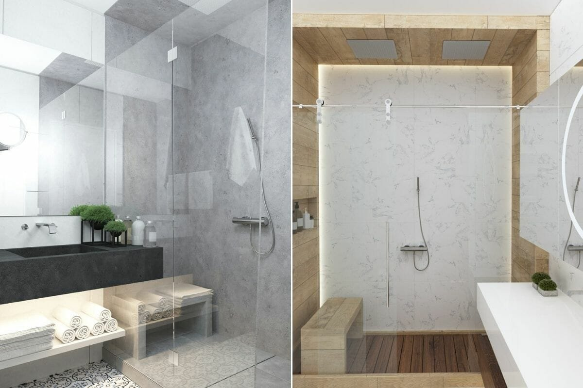 tranquil bathroom interiors by Kate S