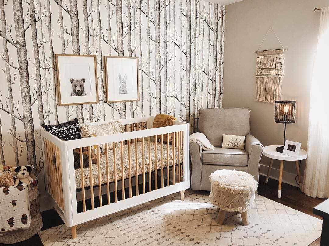Adorable woodland themed nursery decor