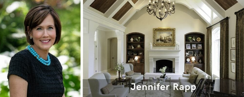 Beautiful living room interior design St Louis by Jennifer Rapp